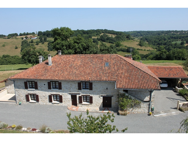House and Gîte with Indoor Pool with Panoramic Views Near St Claud in the Charente 13796