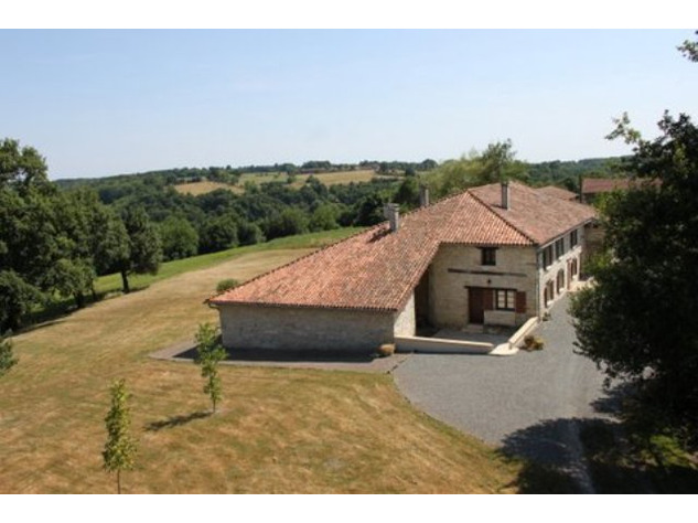 House and Gîte with Indoor Pool with Panoramic Views Near St Claud in the Charente 13797