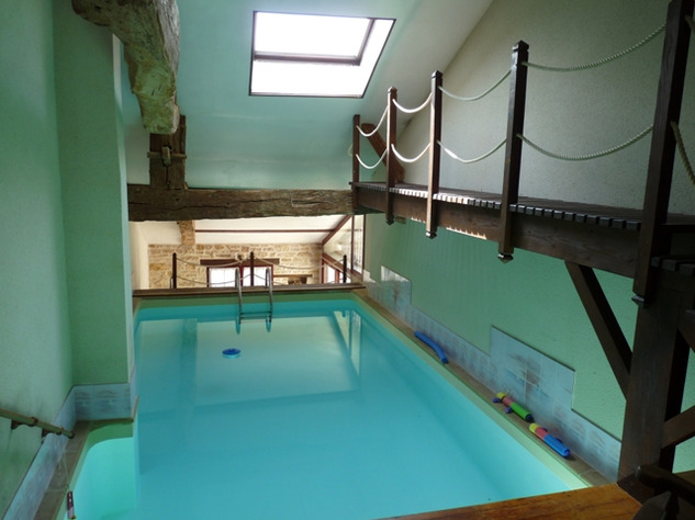 House and Gîte with Indoor Pool with Panoramic Views Near St Claud in the Charente 13817