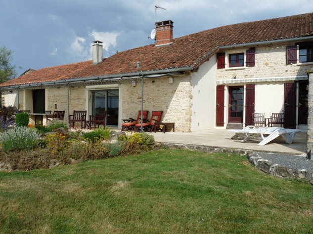 House and Gîte with Indoor Pool with Panoramic Views Near St Claud in the Charente 13819