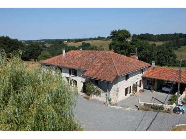House and Gîte with Indoor Pool with Panoramic Views Near St Claud in the Charente 13798