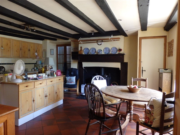 Spacious, Stone Village House for Sale in Luchapt - Vienne 14200